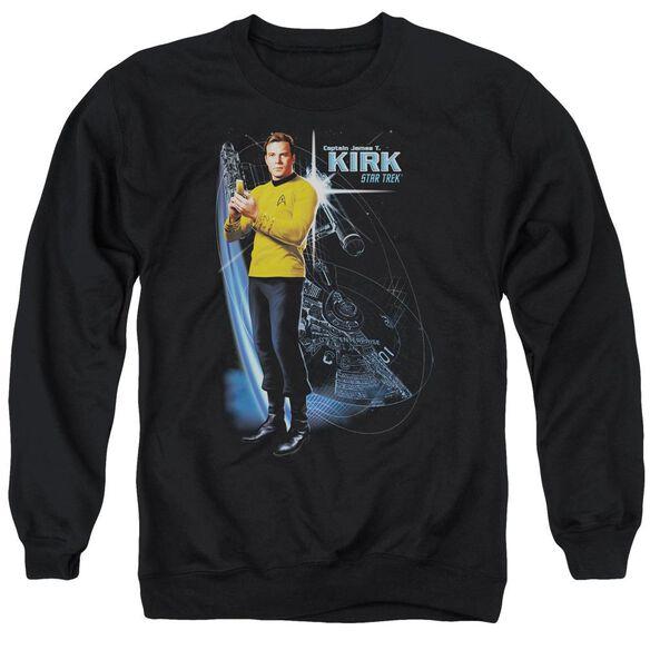 Star Trek Galactic Kirk Adult Crewneck Sweatshirt