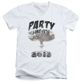 PARTY LIKE ITS 2012 - ADULT V-NECK - WHITE T-Shirt