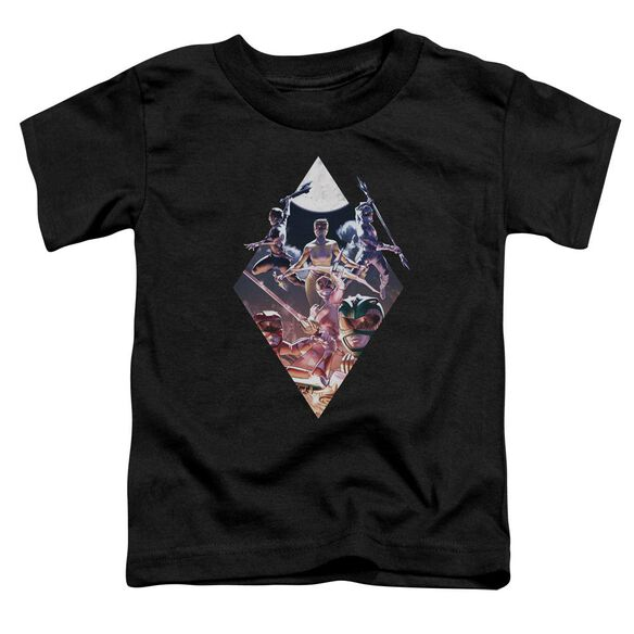 Power Rangers Sdcc Ranger Diamond 2 Short Sleeve Toddler Tee Black T-Shirt
