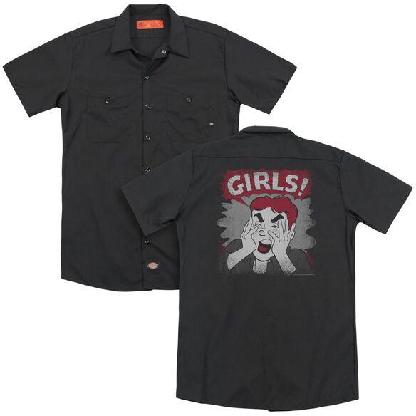 Archie Comics Girls! (Back Print) Adult Work Shirt