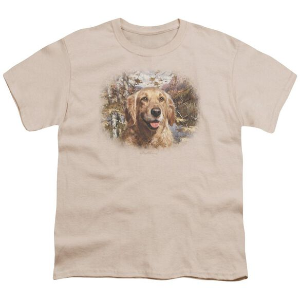 Wildlife Golden Retriever Head Short Sleeve Youth T-Shirt