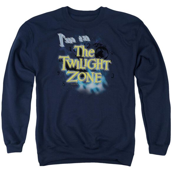 Twilight Zone I'm In The Twilight Zone - Adult Crewneck Sweatshirt - Navy