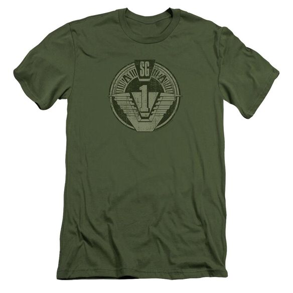 Stargate Sg1 Distressed Short Sleeve Adult Military T-Shirt