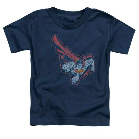 Superman Scribble & Soar Short Sleeve Toddler Tee Navy T-Shirt