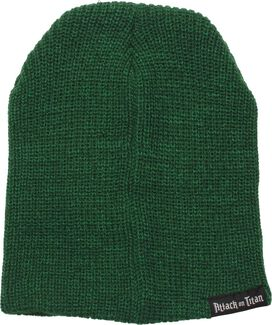 Attack on Titan Logo Green Slouch Beanie