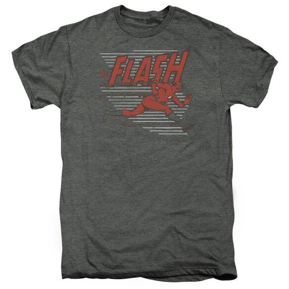 Dc Speed Lines Short Sleeve Adult Premium Tee Platinum T-Shirt