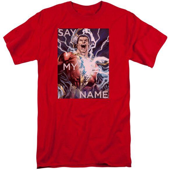 Jla Say My Name Short Sleeve Adult Tall T-Shirt