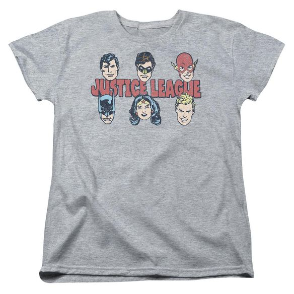 Dc Justice Lineup Short Sleeve Womens Tee Athletic T-Shirt