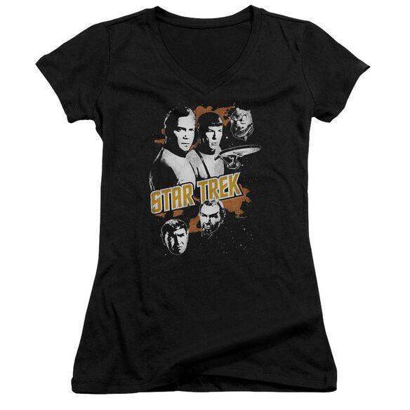 Star Trek Graphic Good Vs Evil Junior V Neck T-Shirt