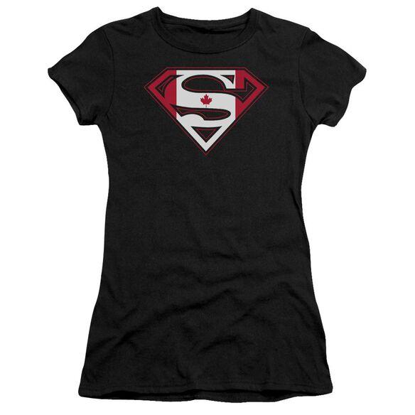 Superman Canadian Shield Short Sleeve Junior Sheer T-Shirt