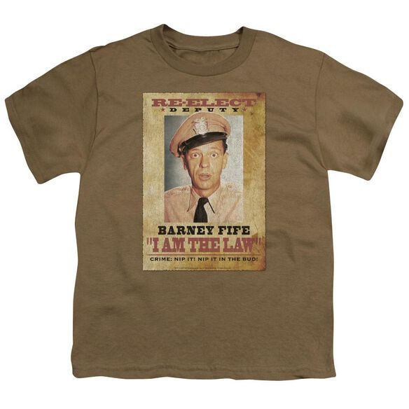 ANDY GRIFFITH I AM THE LAW - S/S YOUTH 18/1 - SAFARI GREEN T-Shirt