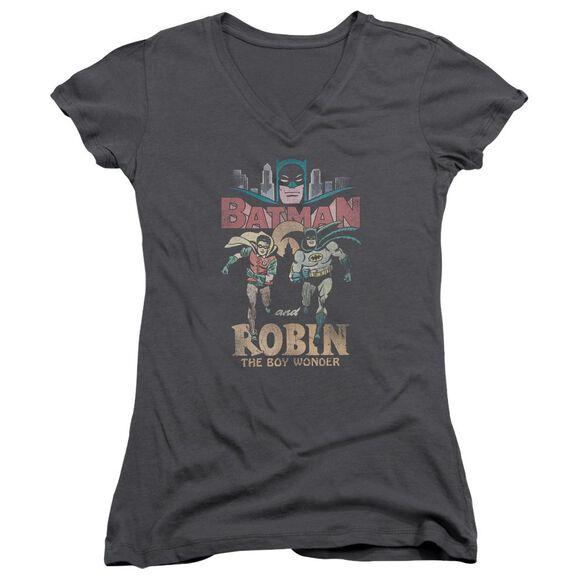 Batman Classic Tv Classic Duo Junior V Neck T-Shirt