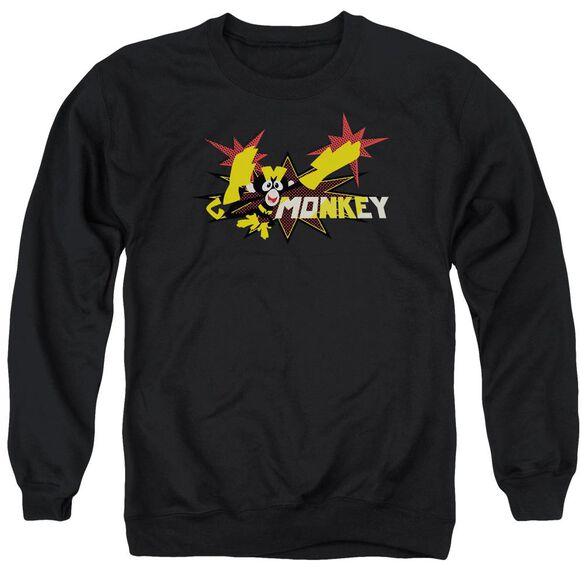 Dexters's Laboratory Monkey Adult Crewneck Sweatshirt