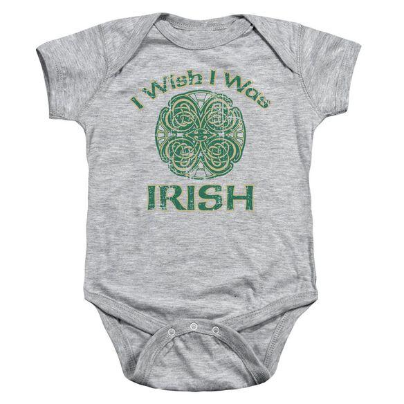 Irish Wish Infant Snapsuit Athletic Heather