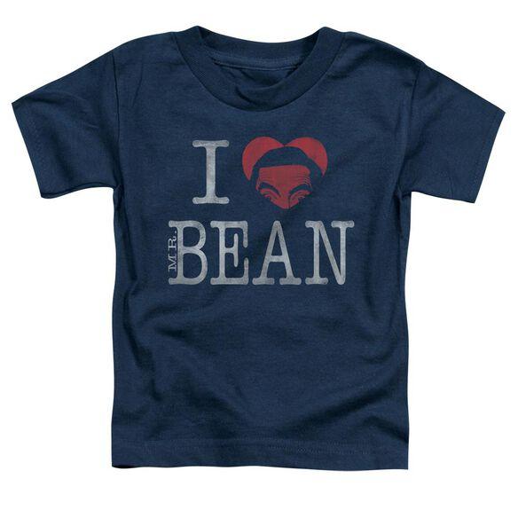 Mr Bean I Heart Mr Bean Short Sleeve Toddler Tee Navy T-Shirt