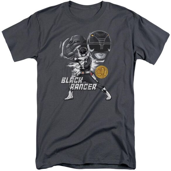 Power Rangers Black Ranger Short Sleeve Adult Tall T-Shirt