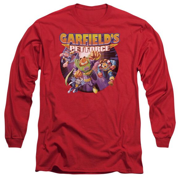 Garfield Pet Force Four Long Sleeve Adult T-Shirt