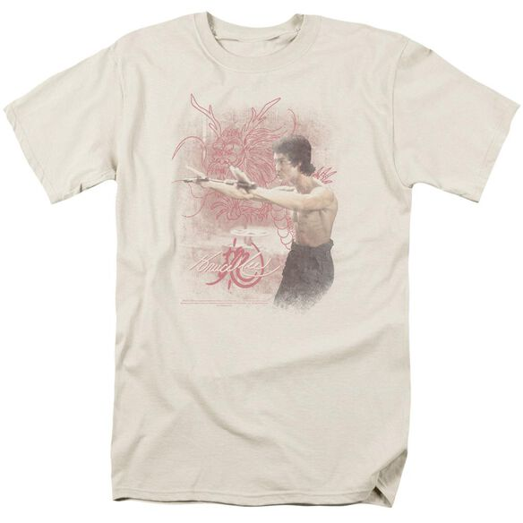 Bruce Lee Power Of The Dragon Short Sleeve Adult Cream T-Shirt