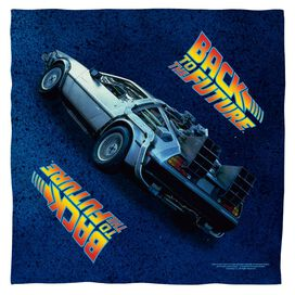 Back To The Future Delorean Poly 22 X22 Bandana