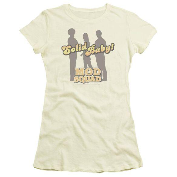 Mod Squad Solid Mod Short Sleeve Junior Sheer T-Shirt