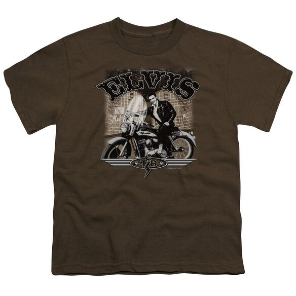 Elvis Tcb Cycle Short Sleeve Youth T-Shirt