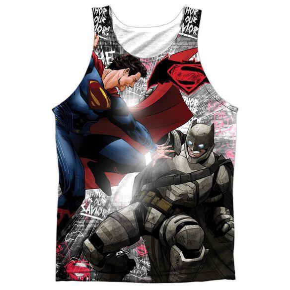 Batman V Superman Showdown Adult Poly Tank Top