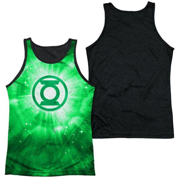 Green Lantern Green Energy Adult Poly Tank Top Black Back