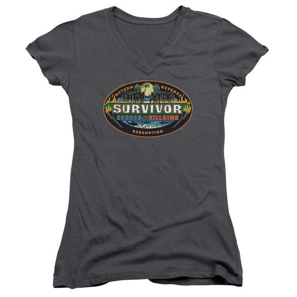 Survivor Heroes Vs Villains Junior V Neck T-Shirt