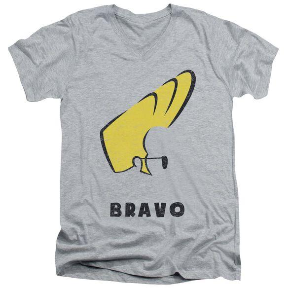 Johnny Bravo Johnny Hair Short Sleeve Adult V Neck Athletic T-Shirt