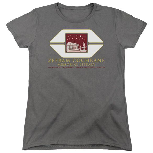 Star Trek Cochrane Library Short Sleeve Womens Tee T-Shirt