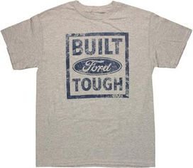 Ford Built Tough Frame Heather Gray T-Shirt Sheer