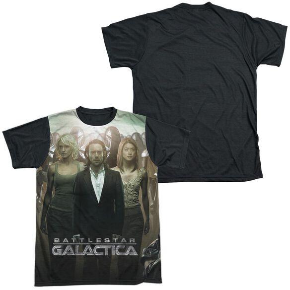 Bsg Fallen Leader Short Sleeve Adult Front Black Back T-Shirt