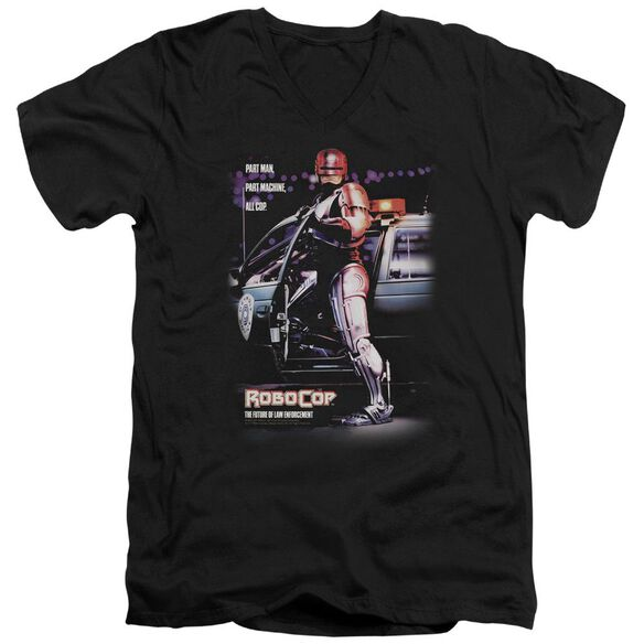 Robocop Poster Short Sleeve Adult V Neck T-Shirt