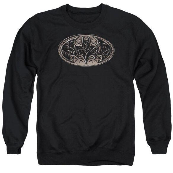 Batman Bio Mech Bat Shield Adult Crewneck Sweatshirt