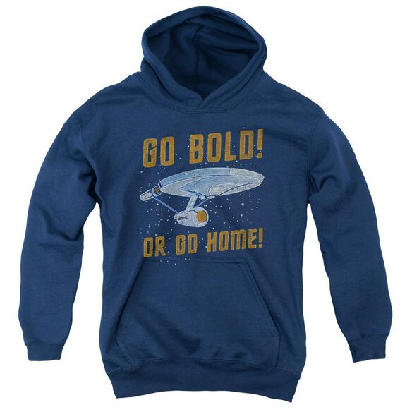 Star Trek Go Bold-youth Pull-over Hoodie - Navy