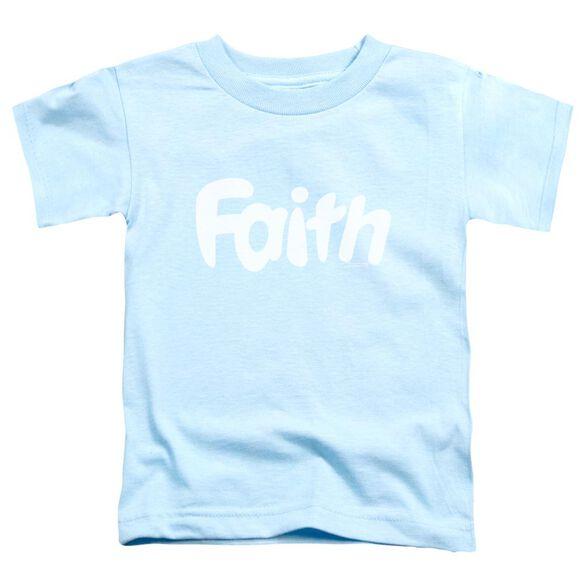 Valiant Faith Logo Short Sleeve Toddler Tee Light Blue T-Shirt