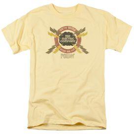 Electric Company Power Short Sleeve Adult Banana T-Shirt