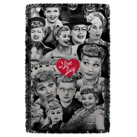 I Love Lucy Faces Woven Throw