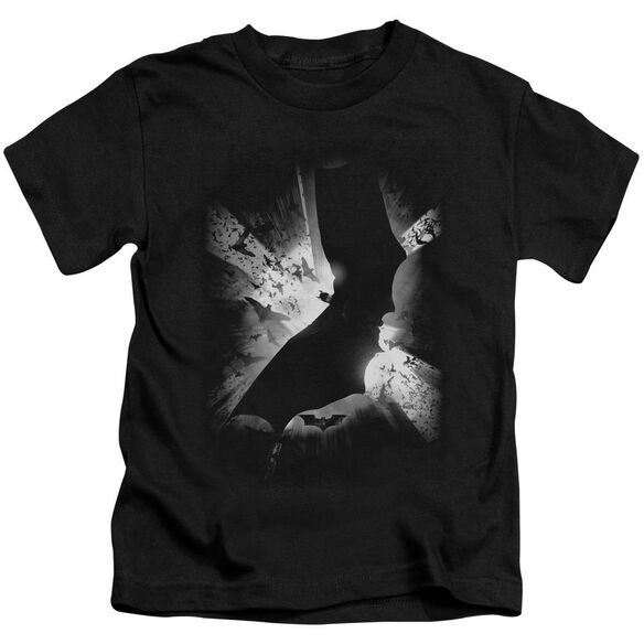 Batman Begins Bw Poster Short Sleeve Juvenile T-Shirt