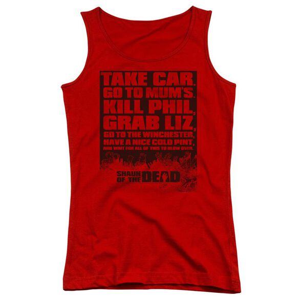 Shaun Of The Dead List Juniors Tank Top