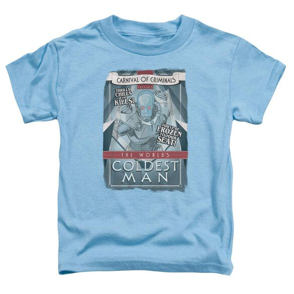 Batman Coldest Man Short Sleeve Toddler Tee Carolina Blue Lg T-Shirt