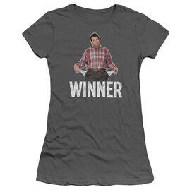 Married With Children Winner Short Sleeve Junior Sheer T-Shirt