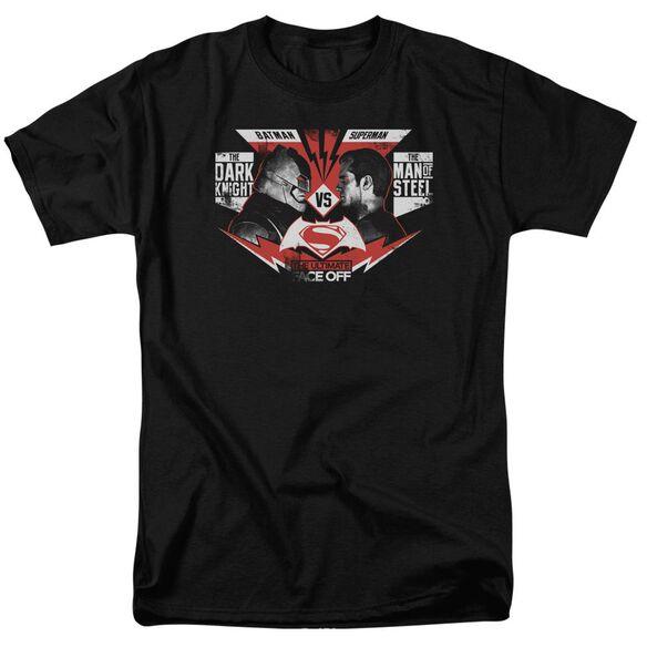 Batman V Superman Ultimate Face Off Short Sleeve Adult Black T-Shirt