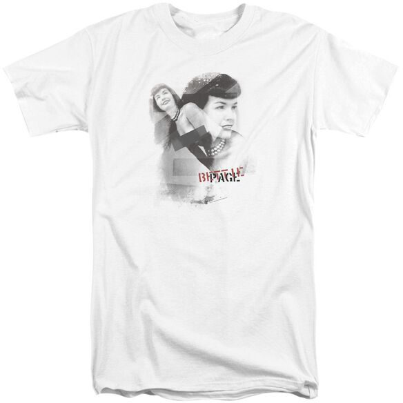 Bettie Page Transparent Bands Short Sleeve Adult Tall T-Shirt