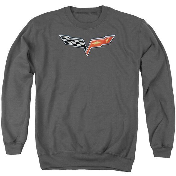 Chevrolet The Vette Medallion Adult Crewneck Sweatshirt