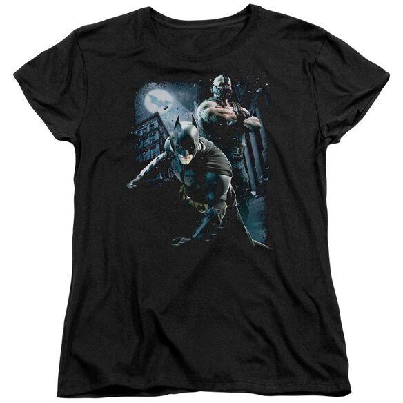 Dark Knight Rises Battlefield Gotham Short Sleeve Womens Tee T-Shirt
