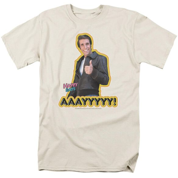 Happy Days Aaayyyyy Short Sleeve Adult Sand T-Shirt