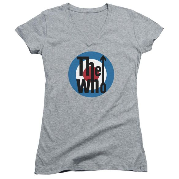The Who Logo Junior V Neck Athletic T-Shirt