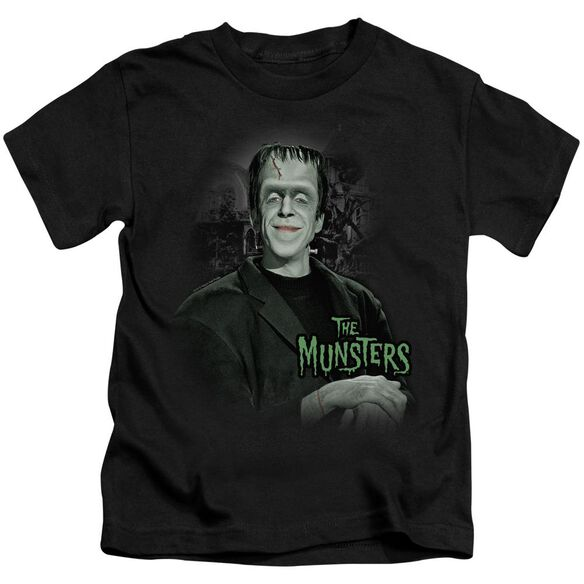The Munsters Man Of The House Short Sleeve Juvenile Black T-Shirt