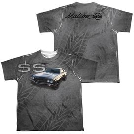 Chevrolet Muscle Chevelle Ss (Front Back Print) Short Sleeve Youth Poly Crew T-Shirt